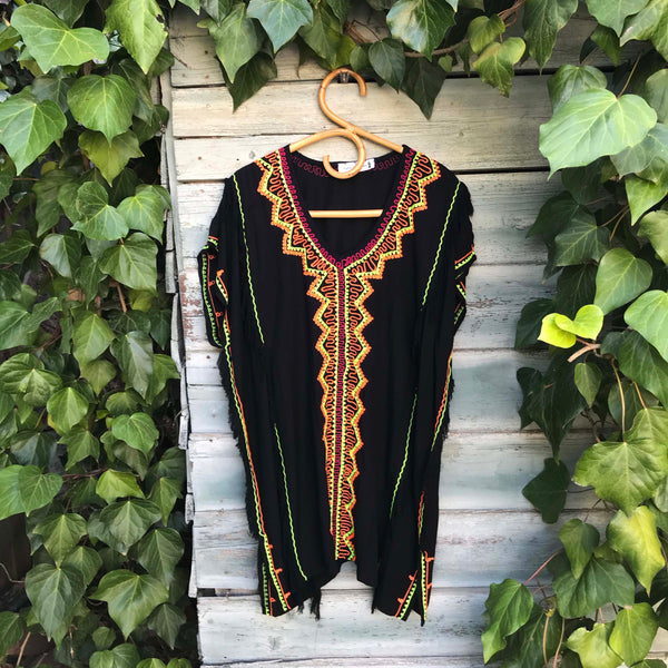 Onyx Embroidered Tunic - Brighton Beach Boho