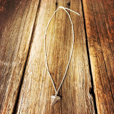 Sharks Tooth Necklace - Silver
