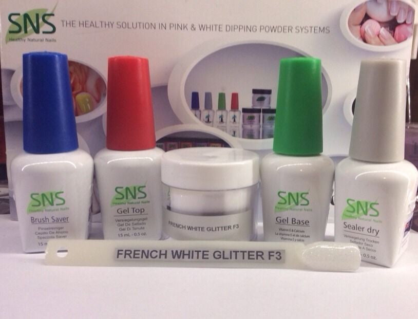 SNS FRENCH WHITE GLITTER Signature Nail System: 1oz Full Kit. New ...