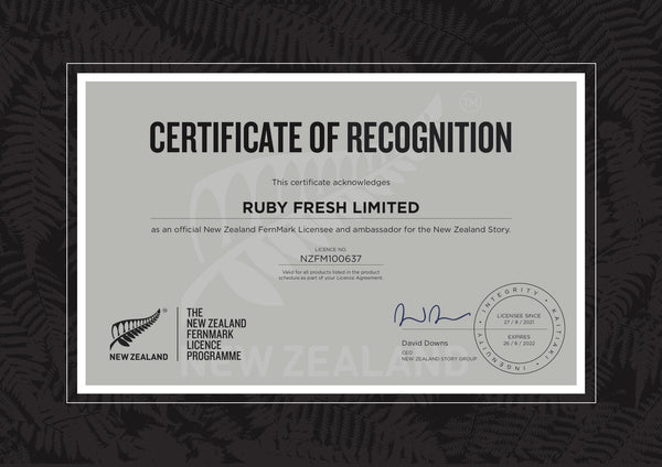 New Zealand FernMark Licence   Ruby Fresh Wetsuits