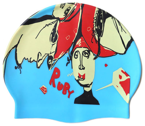 The Noah - Ruby Fresh Custom Swim Cap