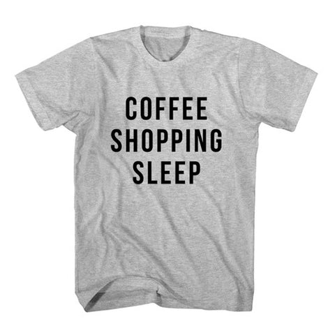 T-Shirt Coffee Shopping Sleep
