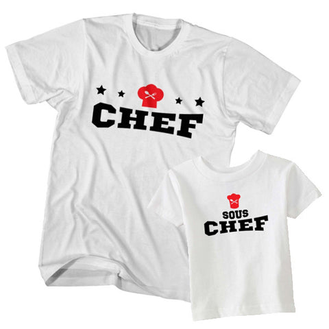 Matching T-Shirt Father Chef Son Sous Chef