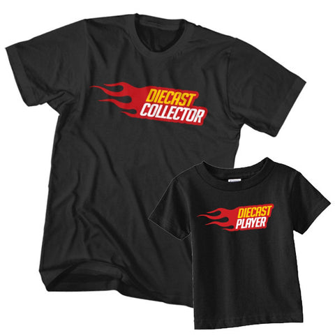 Matching T-Shirt Father Diecast Collector Son Diecast Player