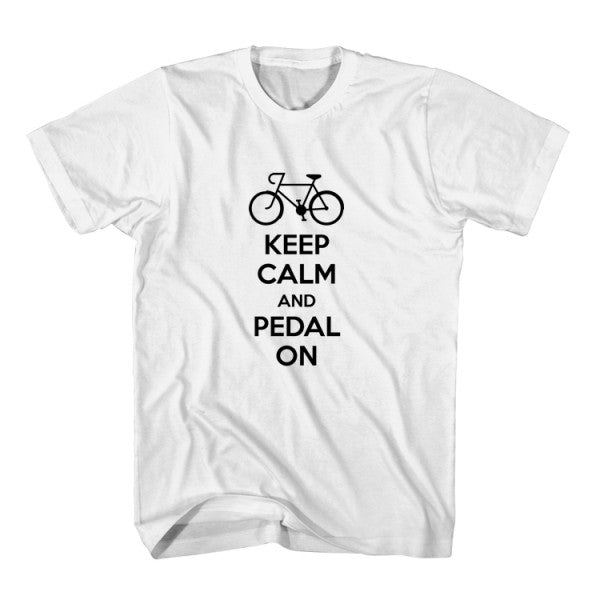 T-Shirt Keep Calm And Pedal On
