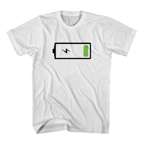 Matching T-Shirt Father Low Battery Son Full Battery
