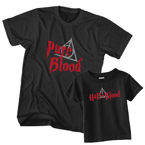 Matching T-Shirt Father Pure Blood Son Half Blood