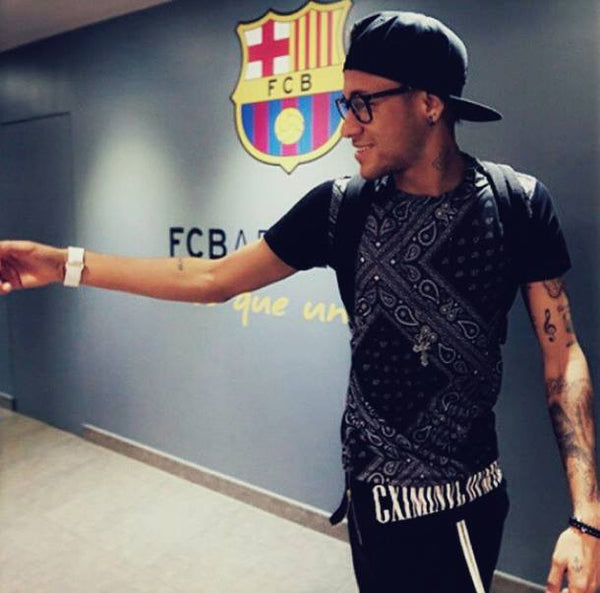 Neymar wears Criminal Damage