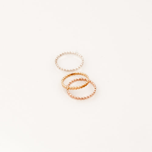 Ring Circles Flat Pearl Charlotte Wooning zilver
