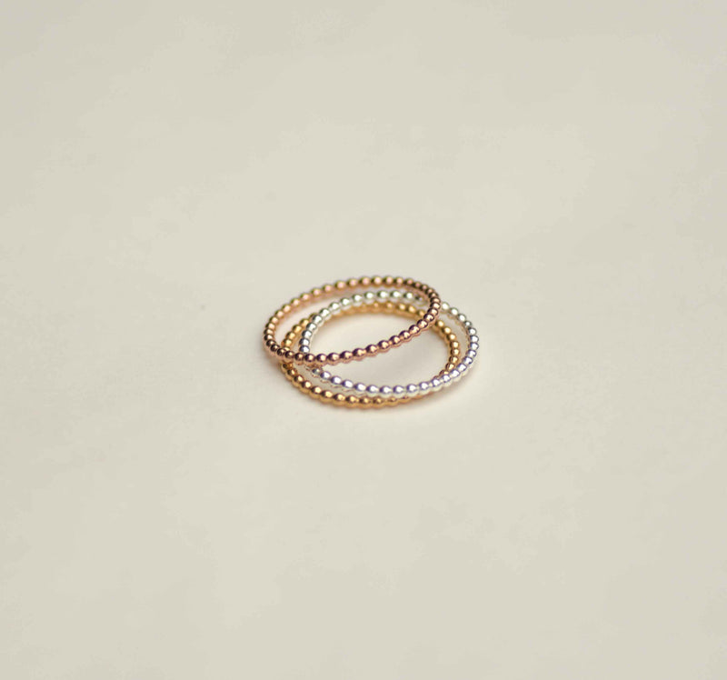 Ring Circles Pearl Small Charlotte Wooning zilver