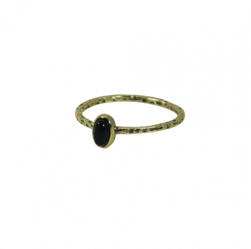 Ring Onyx Brass My Treasure Hunts - spruytenKo