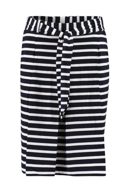 Rok pleat stripes navy Bloomings - spruytenKo