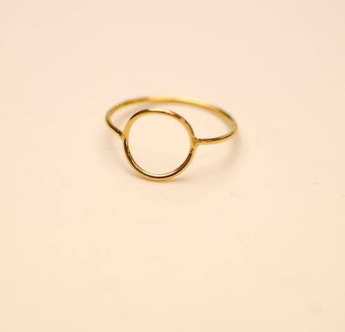 Ring Geometry Circle Charlotte Wooning goud