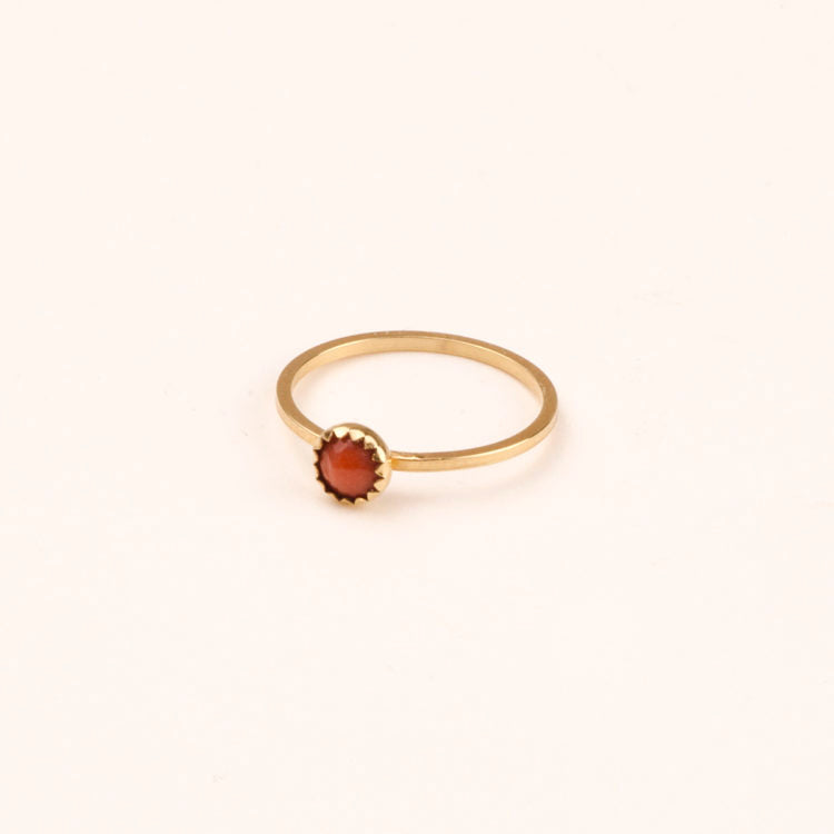 Ring pomegranate Charlotte Wooning goud