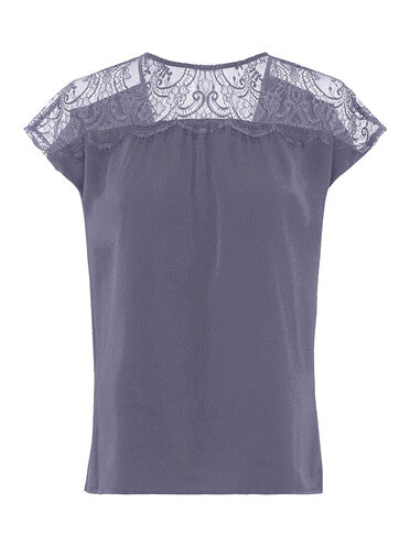 Top Crepe Light Lace French Connection
