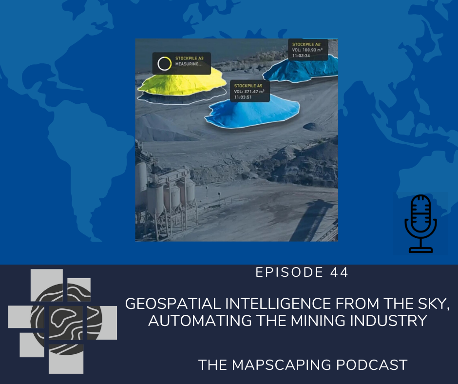 Geospatial intelligence from the sky, automating the mining industry