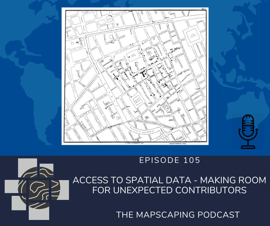 Access to spatial data, geospatial podcast for spatial people