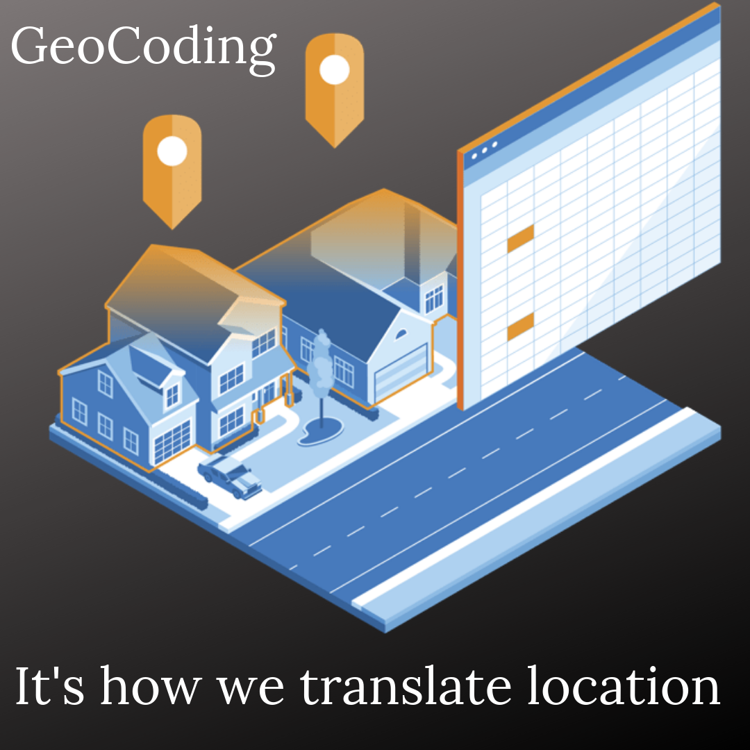 Geocoding translating between geographic coordinates and address, from address to geographic coordinates