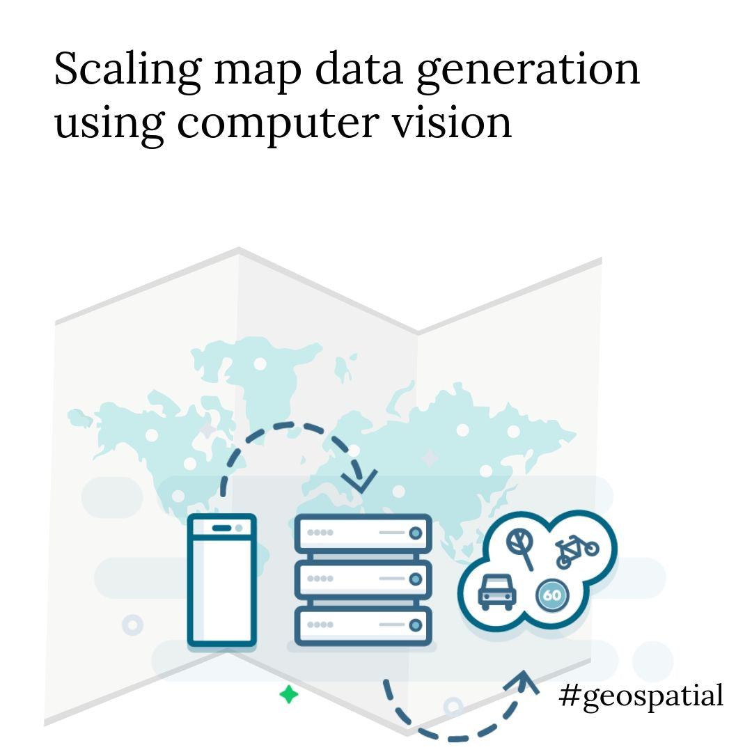 Using computer vision to scale map data generation for geospatial