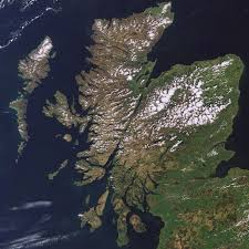 Scotland from Space- Winter and Summer