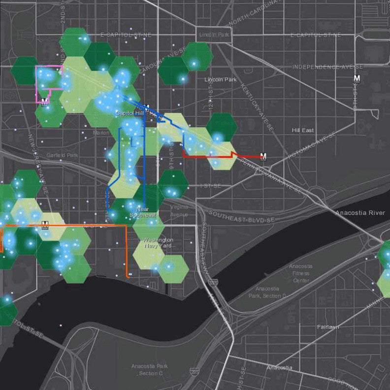 Mapping the way we relate to the urban environment
