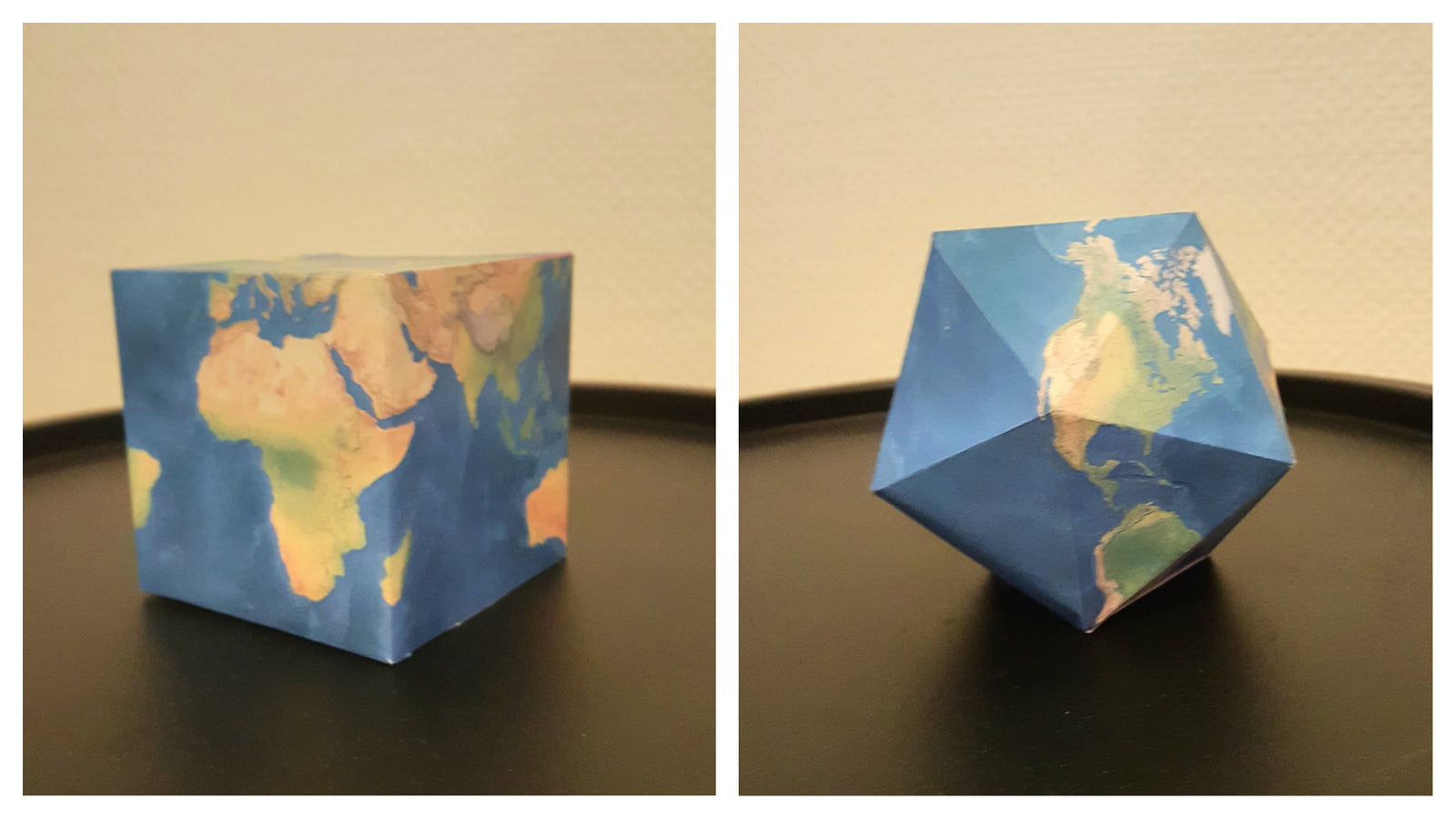 graphic regarding Printable Globe called Folding paper planet: Do-it-yourself recreation each grownups and children would