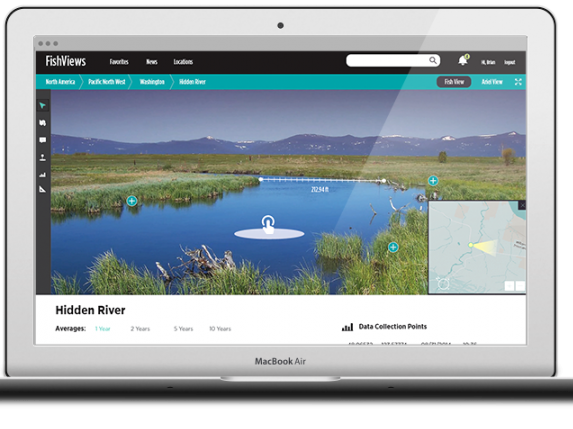 Immersive maps give context to data - this is Street View for rivers