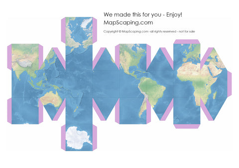 photograph regarding Printable World Globe named Folding paper globes - origami globes - MapScaping