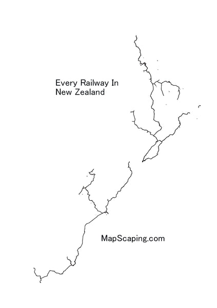 Show Me A Map Of New Zealand.Beautiful Minimalistic Maps Of New Zealand Mapscaping