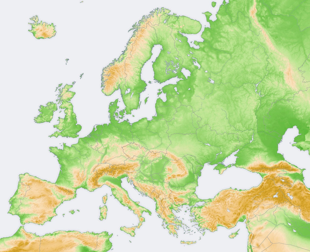Ireland Elevation Map.The Topography Of Europe Mapscaping