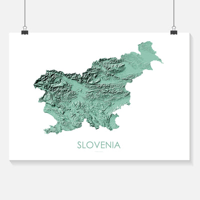 Slovenia Map 3D Mint