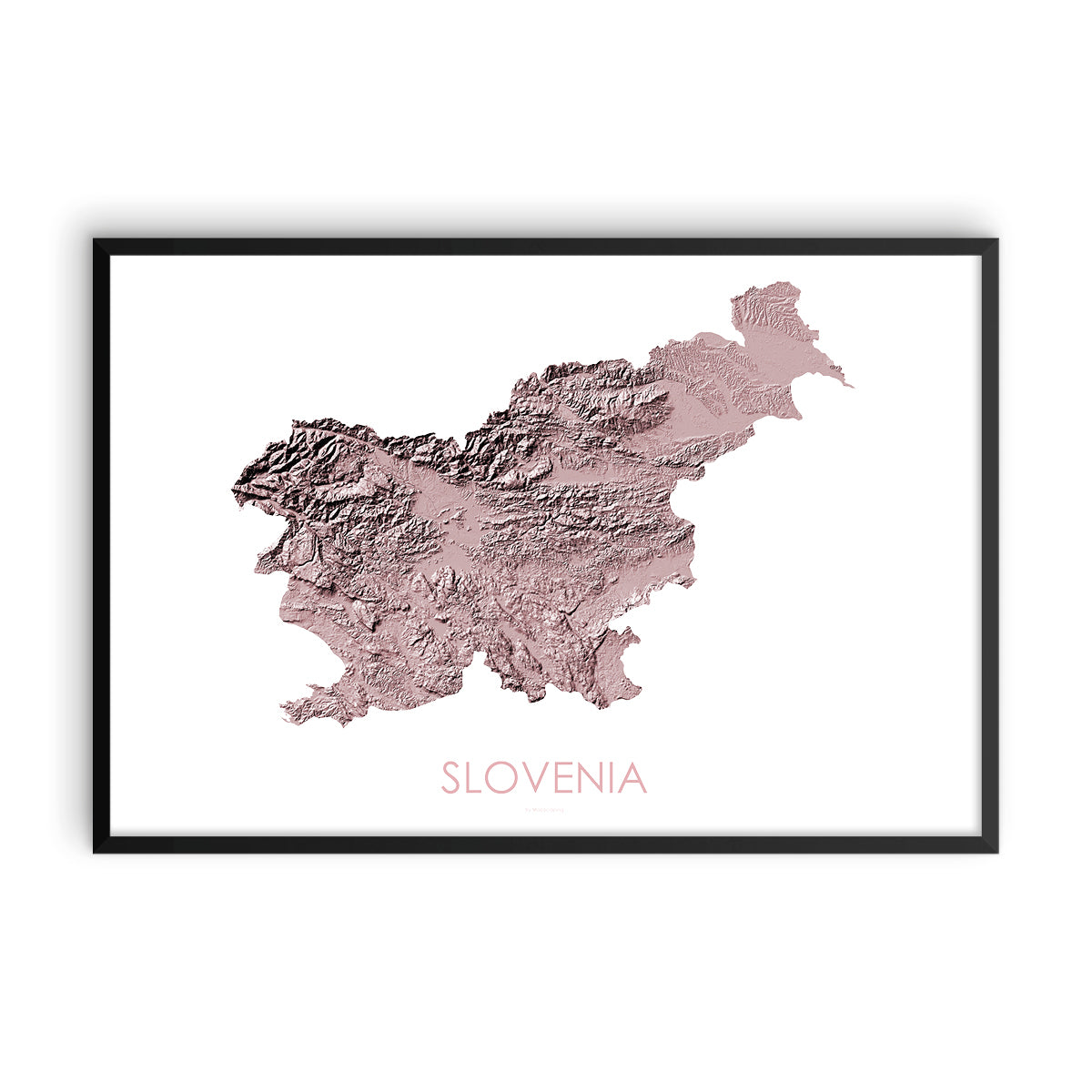 Slovenia Map 3D Rose