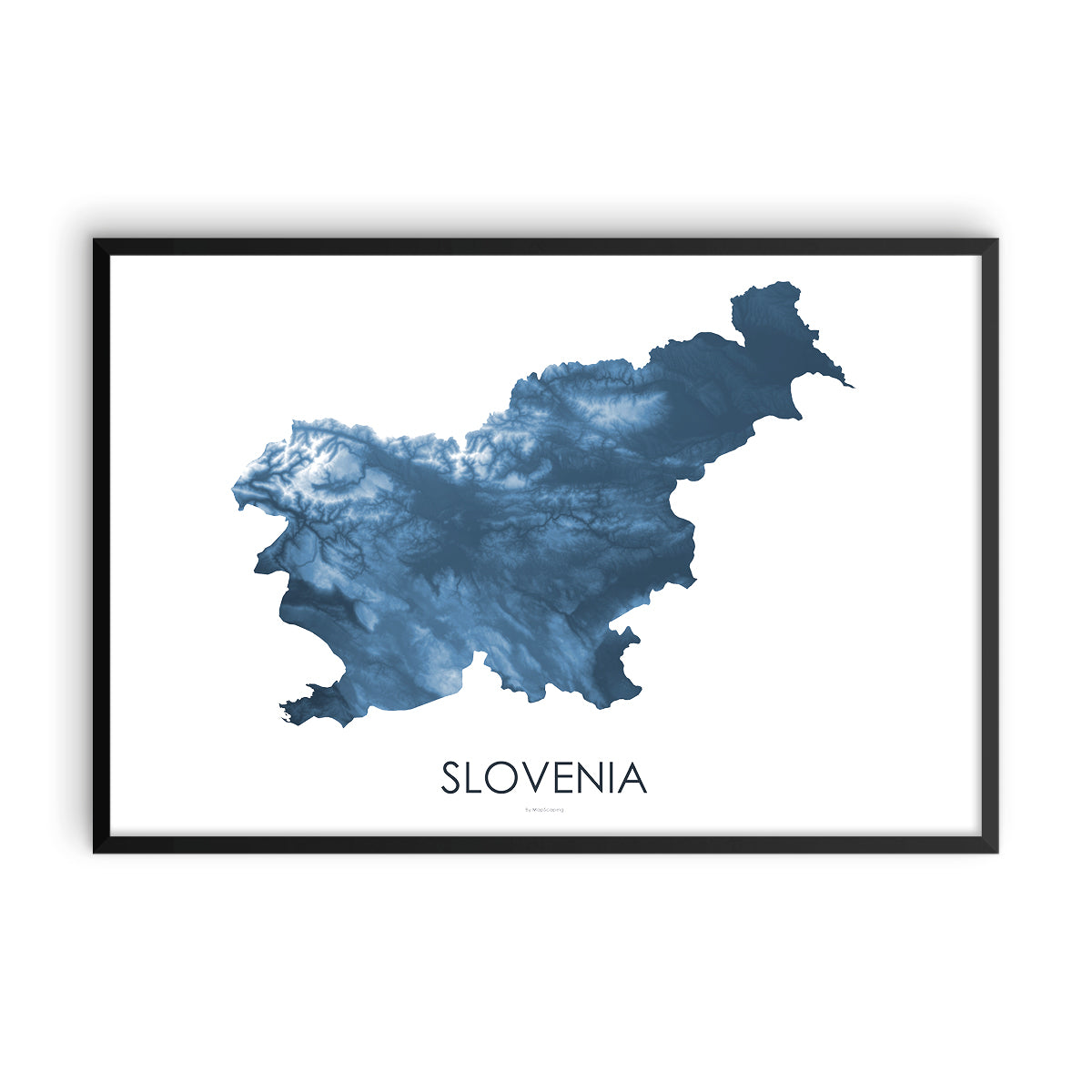 Slovenia Map Midnight Blue