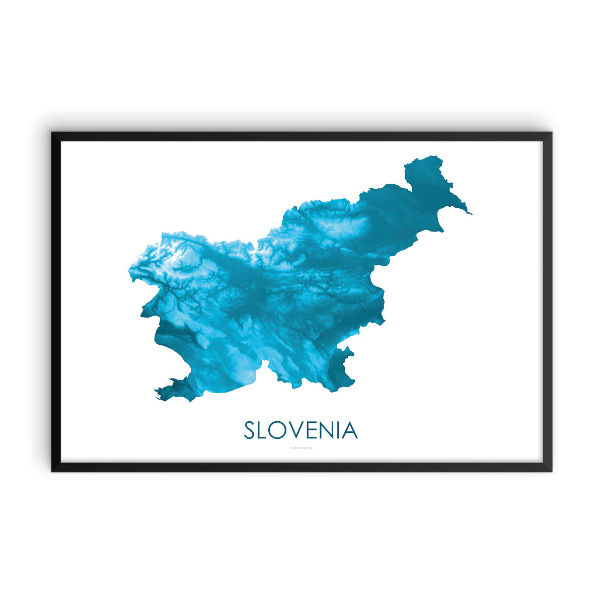 Slovenia Map Petroleum Blue