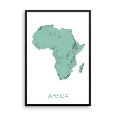 Africa Map 3D Mint-Topographic Map