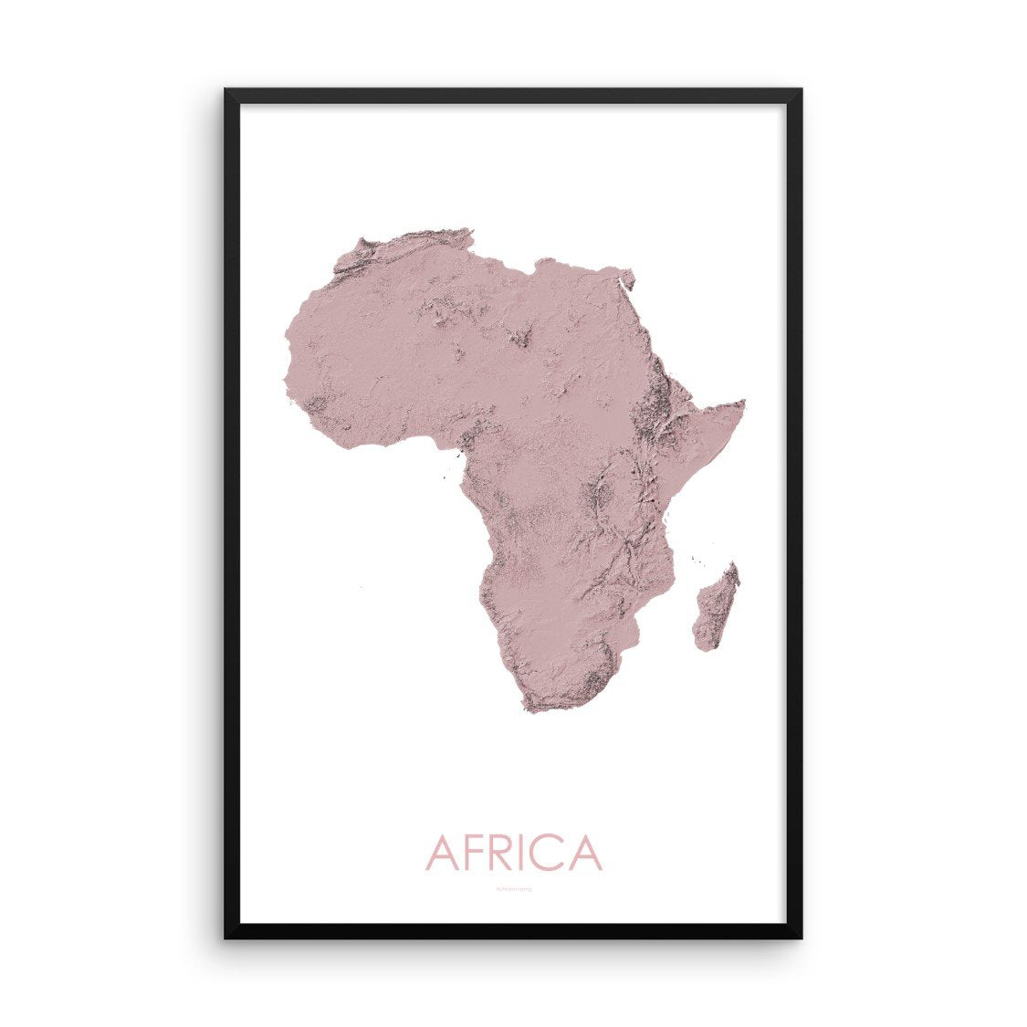 Africa Map 3D Rose-Topographic Map
