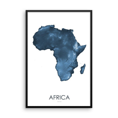 Africa Map Midnight Blue-Topographic Map