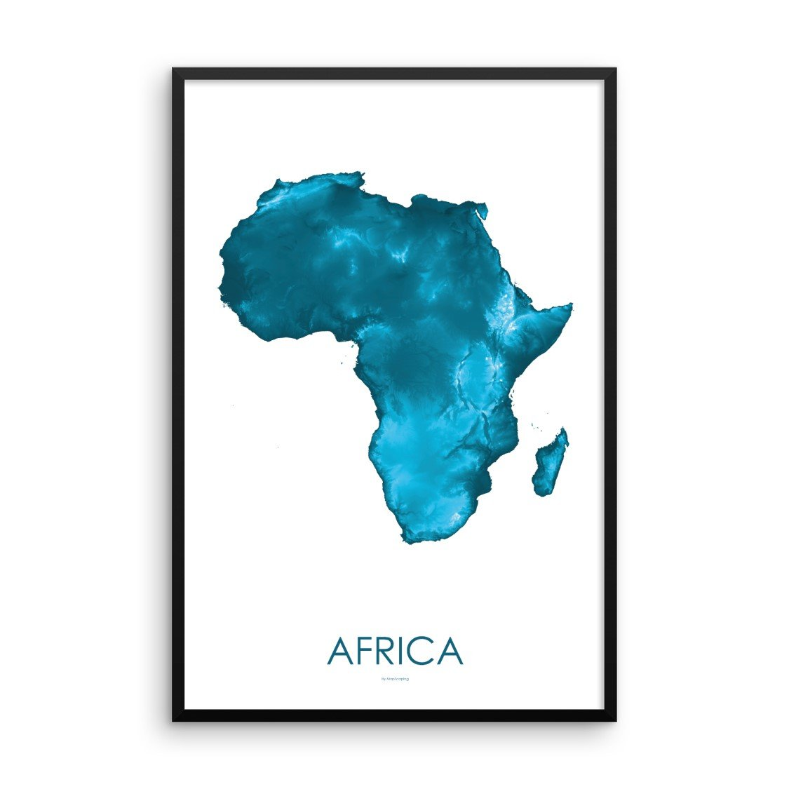 Africa Map Petroleum Blue-Topographic Map