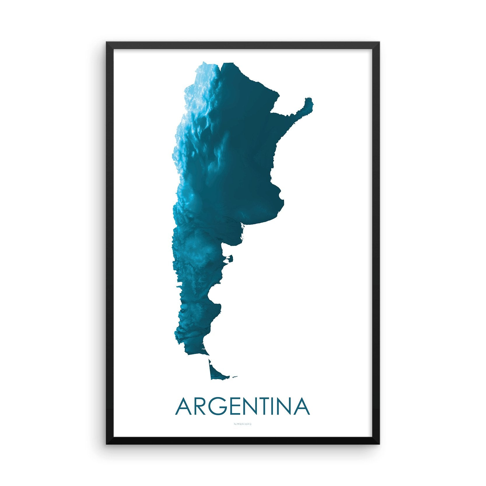 Argentina Map Petroleum Blue
