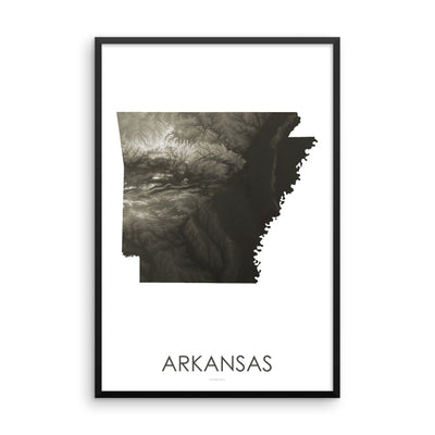 Arkansas Map Slate-Topographic Map