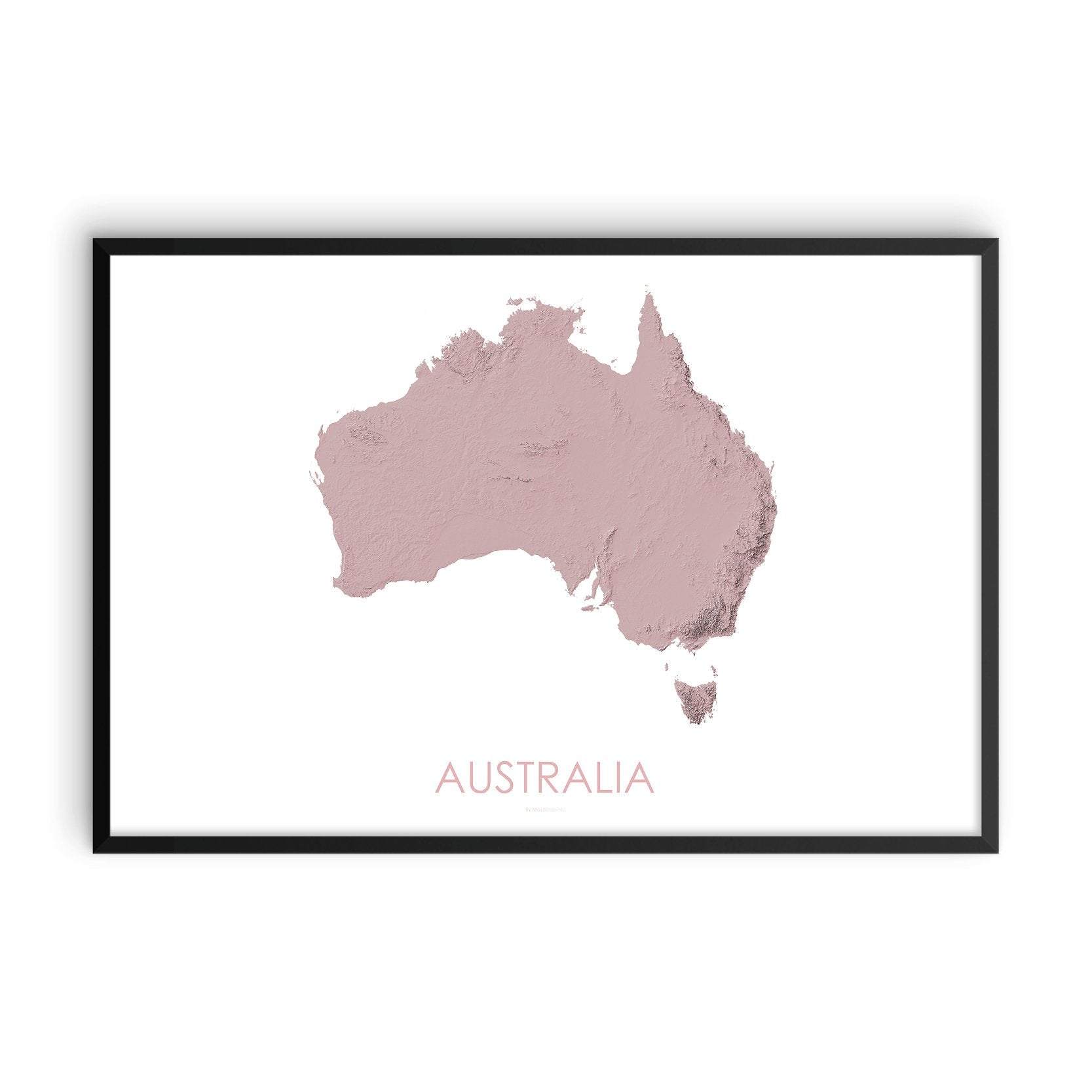 Australia Map 3D Rose-Topographic Map