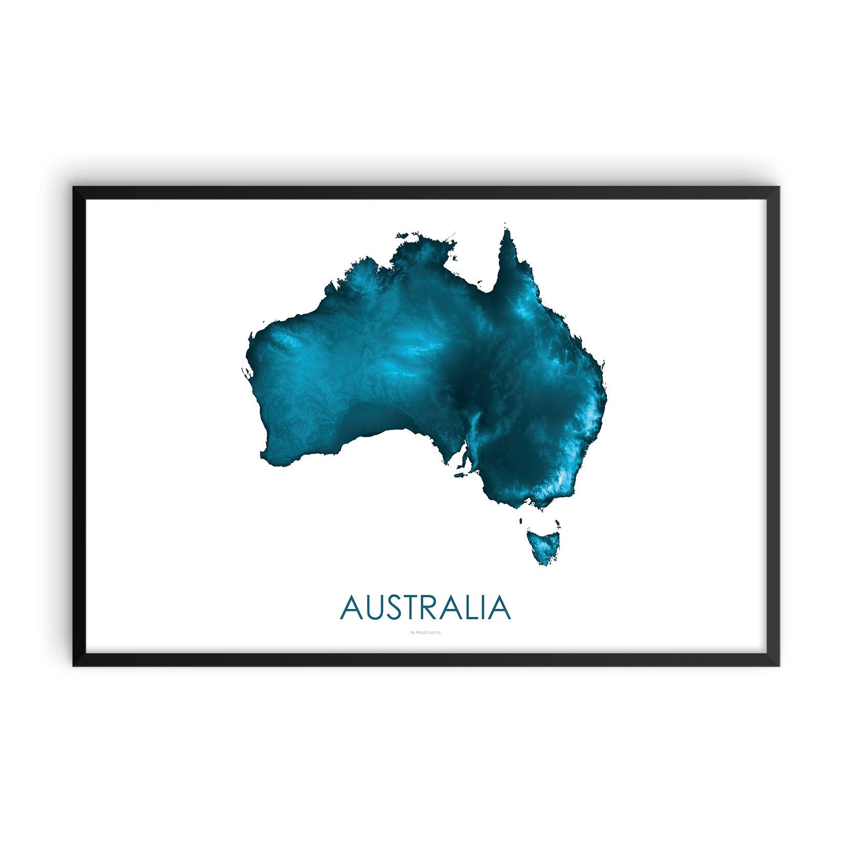 Australia Map Petroleum Blue-Topographic Map