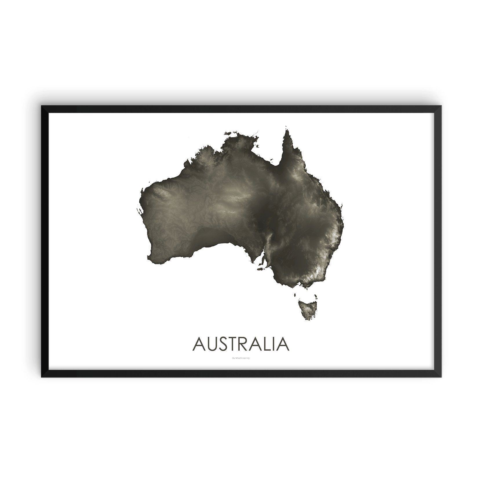 Australia Map Slate-Topographic Map