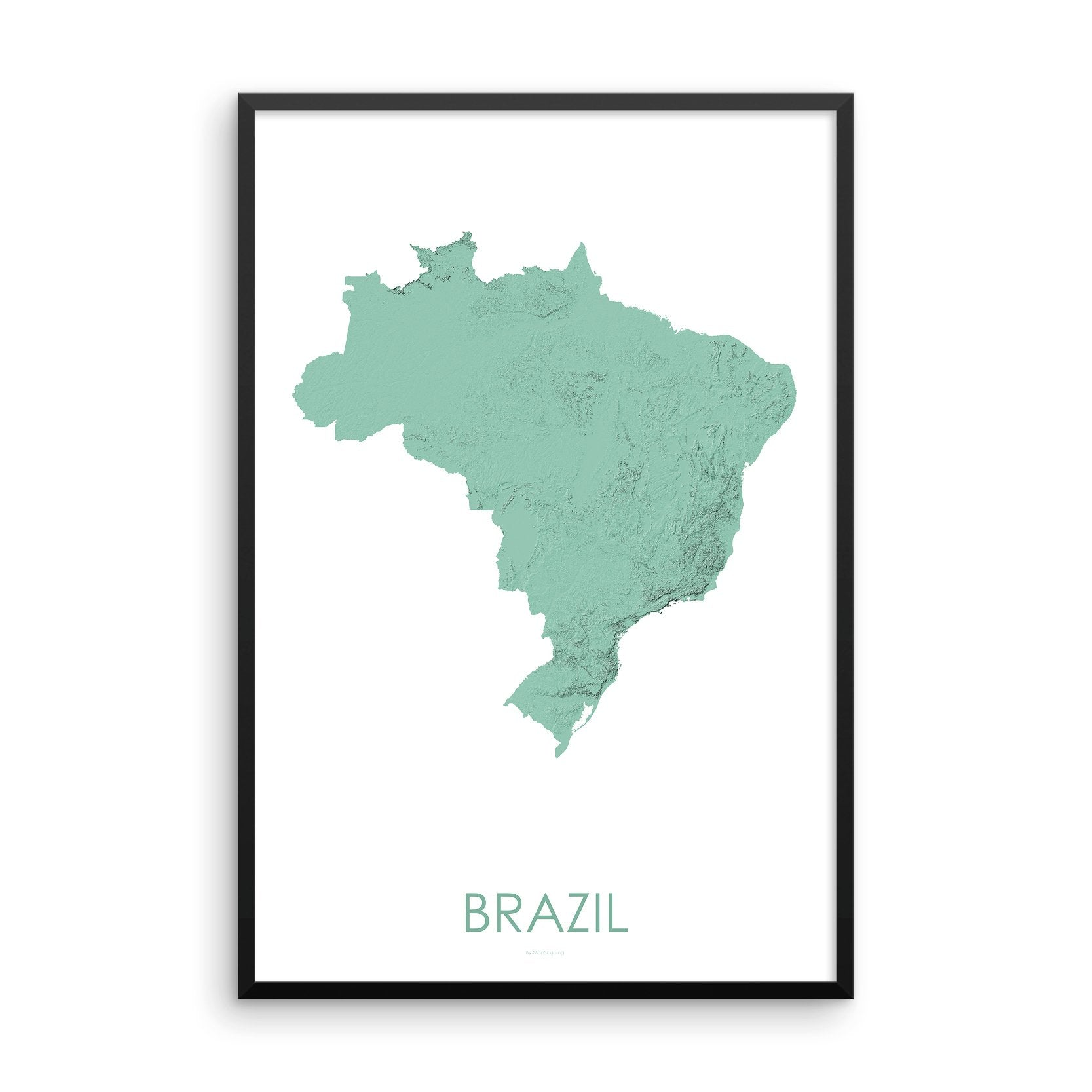 Brazil Map 3D Mint-Topographic Map