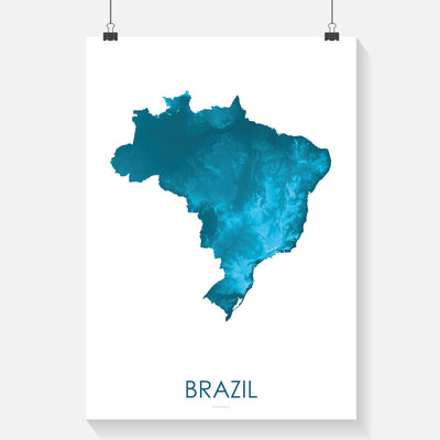 Brazil Map Petroleum Blue-Topographic Map