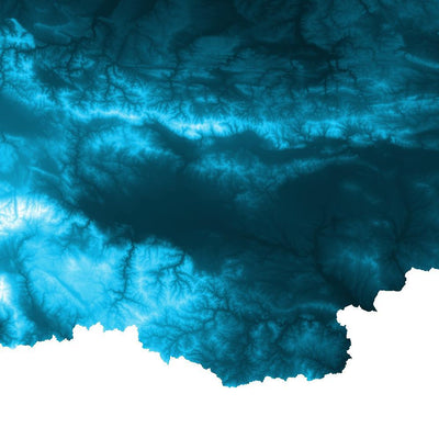 Bulgaria Map Petroleum Blue-Topographic Map
