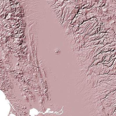 California Map 3D Rose-Topographic Map