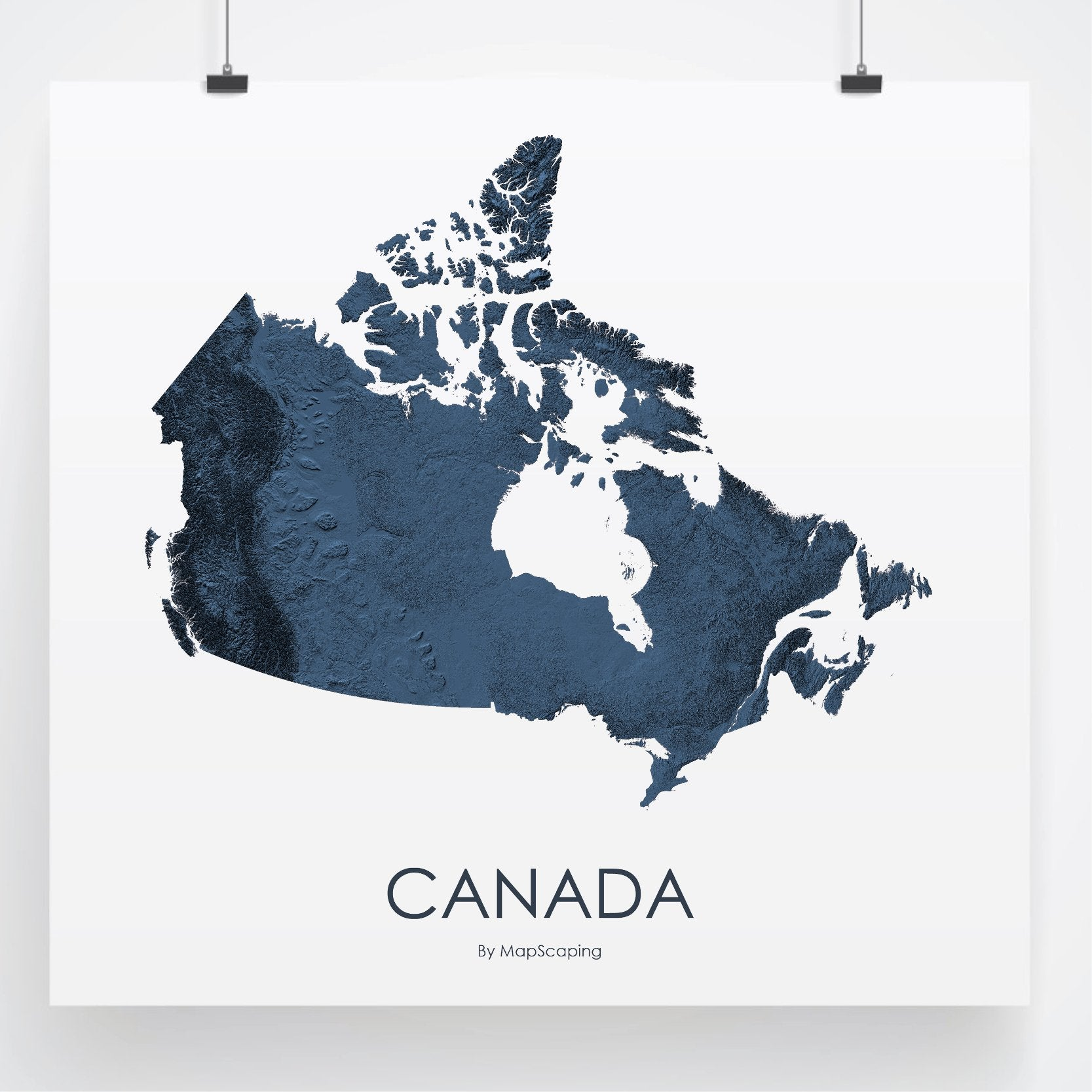 Map Of Canada 3d.Canada Map 3d Midnight Blue