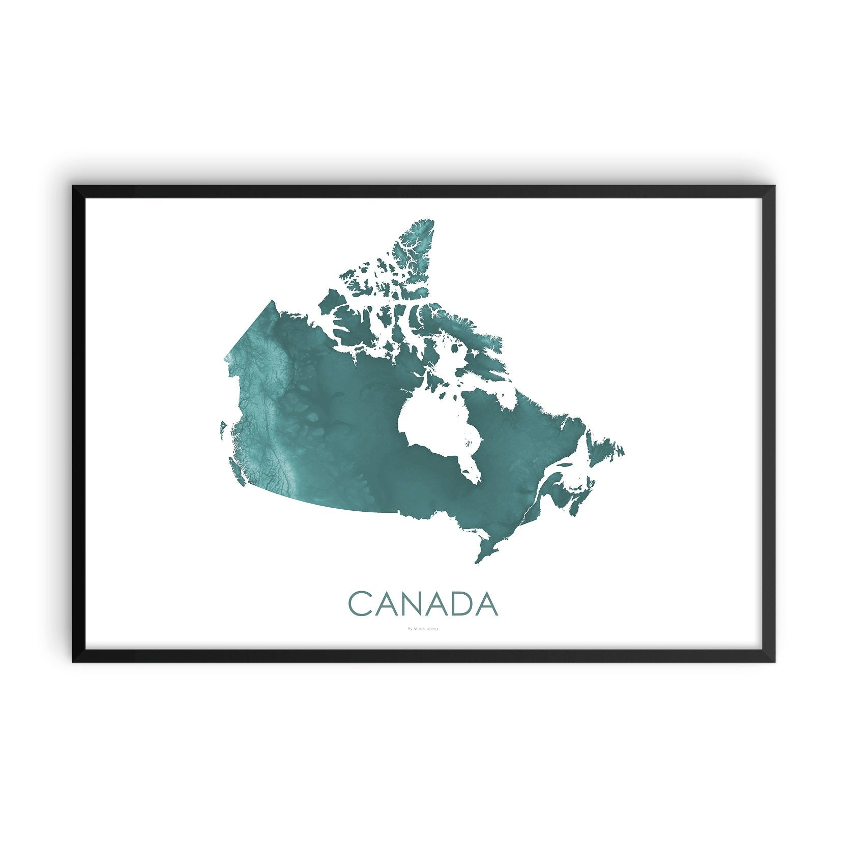 Canada Map Teal