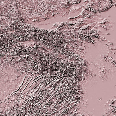 China Poster 3D Rose-topographic wall art map by MapScaping